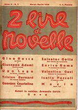 2 LIRE DI NOVELLE EDIZIONI LAZZARI ANNO 1926 NUMERO 3