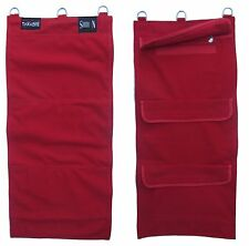 Kung Fu 'RED' Iron Palm Canvas Wall Sand Bag with Zip Protector - 3 Section