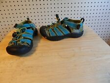 Youth KEEN sandals - teal and lime green - size 1