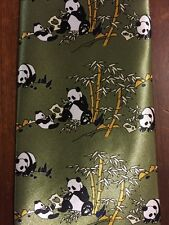 100% Handmade Silk Panda Tie From China Tonno Kai Long