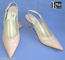 LUCIANO DI ROMA - SANDALES TALONS 7.5 CM TOUT CUIR ROSE PALE 41 - NEUF