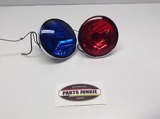 HARLEY DAVIDSON POLICE FLHTP BLUE RED SPOT LIGHTS AUXILIARY PASSING TOURING FLH
