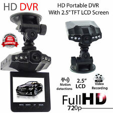 "Hot Black 2.5"" Full HD 720P Car DVR Vehicle Camera Video Recorder Dash Cam EC"
