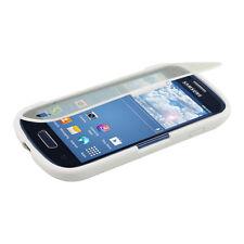 kwmobile Schutz Hülle für Samsung Galaxy S3 Mini Weiß Transparent Silikon Case