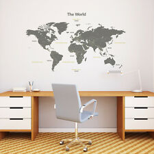 Decowall The World  Wall Stickers 1509 Big Removable Vinyl Home Kid Tattoos Art