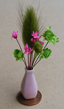 1:12 Scale Mixed Flowers In A Vase Dolls House Miniature Flower Accessory P20