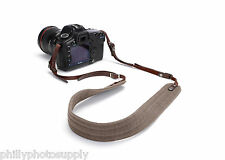 Ona Presidio Ranger Tan Handcrafted Waxed Canvas and Leather Camera Straps