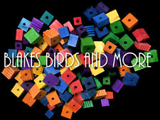 125 Wood XL BULK Blocks For Bird- Parrot Toys Parts- Macaw -African Grey- Amazon