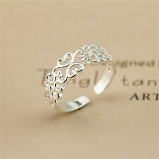 New 925Sterling Silver Plated Ring Women Fashion Jewelry Wholesale Size OPEN