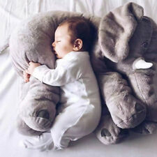 Baby Long Nose Elephant Doll Pillow Soft Plush Stuff Toys Lumbar Pillow 28*33cm