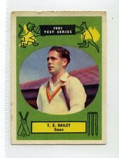 (Jc2603-100)  ABC GUM,CRICKETERS,1961 TEST SERIES,T.E.BAILEY ESSEX,1961,#22