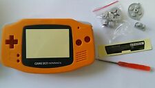 CARCASA COMPLETA+PANTALLA COMPATIBLE GAME BOY ADVANCE ORANGE NEW/NUEVO