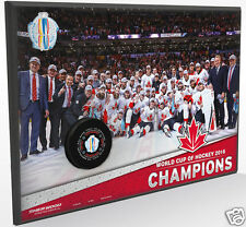 2016 World Cup of Hockey Team Canada Champions Wall Plaque w/ Final Game 2 Puck