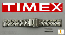 TIMEX Q7B863 16-20 mm Original Stainless Steel Watch BAND Strap w/ 2 Pins