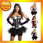 7206 Burlesque Boned CORSET Bustier Dress Tutu Skirt