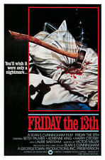 FRIDAY THE 13TH - MOVIE POSTER / PRINT (PILLOW & AXE)