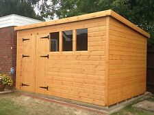"WOODEN SHED 12X8 PENT,13MM T/G,3X2CLS FRAMING,1"" THICK SAWN FLOOR,13MM T/G ROOF"
