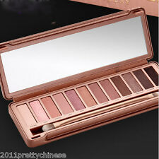 New 3th Hot Sale 12 Colors Urban OL Eye Shadow Palette Nude Neutral Makeup Brush
