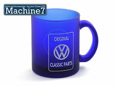 Classic VW Tea Coffee Mug Cup Blue Glass, Machine7 Aircooled Volkswagen Parts