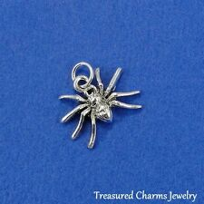 Silver SPIDER Arachnid Spooky Halloween Insect CHARM PENDANT