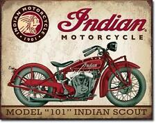 Indian Scout Model 101 Vintage Style USA Motorrad Metall Schild
