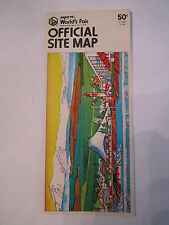 "1974 EXPO WORLD'S FAIR OFFICIAL SITE MAP - GREAT COLORS - 8 1/2"" X 10 3/4"" OFC-2"