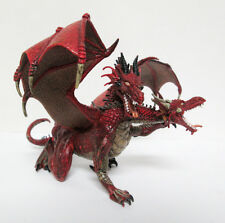 Two Headed Winged Red Dragon PVC Plastic Figure Toy Papo 2005