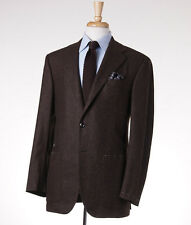 New $4495 OXXFORD HIGHEST QUALITY Brown Herringbone Cashmere Sport Coat 40 R