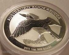 2011 AUSTRALIAN KOOKABURRA BIRD 1 oz. SILVER COIN *BU*