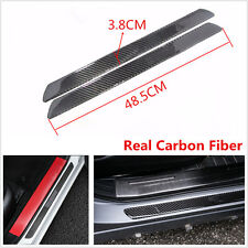 2x Universal Carbon Fiber Car Scuff Plate Door Sill Cover Panel Step Protecors