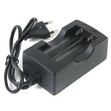 Smart 18650 Dual Rechargeable Battery Charger Li-ion Travel Wall Charger EU Plug