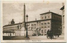 Primi 1900 Roma - Palazzo Reale dal fianco, Carrozza con cavallo - FP B/N ANIM