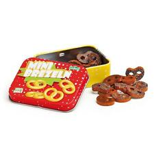Wooden mini pretzels in a tin by Erzi pretend play shop toy food kitchen grocery