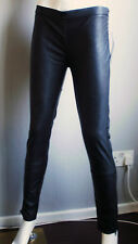 Black Faux Leather Treggings, Faux Leather Jeans,Leggings ,Trousers NEW Size 10