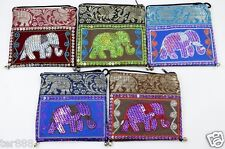 Thai Handmade Bag Elephant Shoulder Sling Hippie Purse Crossbody Yaam Coin Card