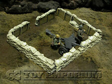Build-a-Rama 1:32 Hand Painted WWII Deluxe  Sandbag Trench Wall Set #1 (5 pc)