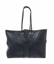 Yves Saint-Laurent YSL Neo Reversible Calfskin Leather Tote Bag Purse Navy $1495
