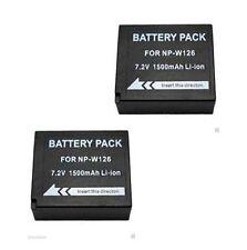 2X Batteries NP-W126 for Fuji FujiFilm XE1 XPro1 HS30EXR HS33EXR HS50EXR X-M1