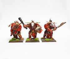 WARHAMMER FANTASY ARMY BEASTMEN MINOTAURS X3  WELL  PAINTED AND BASED