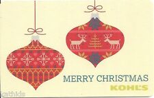 Kohl's Pair of Red Christmas Ornaments Holiday Winter 2013 Gift Card Collectible