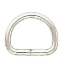 "6 pack - 1.5"" Weaver Leather Metal Dee Ring D-ring chrome plated"