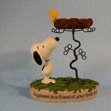 SNOOPY & WOODSTOCK Peanuts Figurine HALLMARK Happiness is...