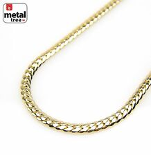 """Men's Hip Hop 14K Gold Plated Width 10 mm Miami Cuban Link 30"""" Chain Necklace"""