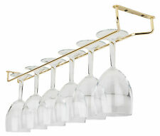 "24"" Brass Plated Glass Hanger Size:24""/ 61cm Hangers Rack Holder Kitchen Bar Pub"