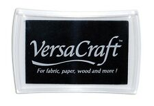 Black VersaCraft Ink Pad Rubber Stamp Fabric, Wood, Paper, Clay, Shrink Plastic