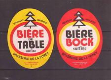 Ancienne étiquette Bière Alcool France Brasserie  de la Forêt