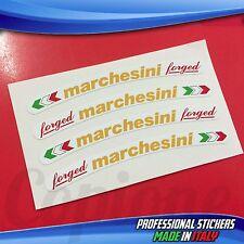 Adesivi Cerchi MARCHESINI Forged Bianco Giallo e Rosso