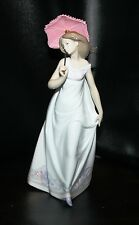 "BEAUTIFUL Lladro 7636 ""Afternoon Promenade"" Parasol -  Retired 1998"