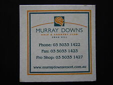 MURRAY DOWNS GOLF & COUNTRY CLUB SWAN HILL 03 50331422 COASTER