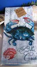 Blue Crab Terry Kitchen Dish Towel (1) New Kay Dee Coastal Crabfest Bay Maryland